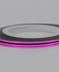 Розовая лента для ногтей