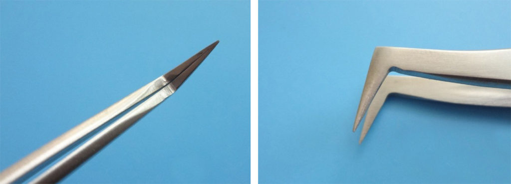 Пинцет VETUS для объемного наращивания ресниц 3D 6D