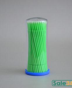 Микробраши для ресниц в тубусе / Зеленые