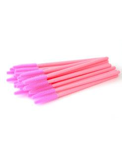 Силиконовая щёточка для расчесывания ресниц - Розовый