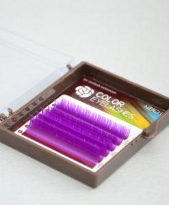 Ресницы Neicha / Микс mini / Фиолетовые