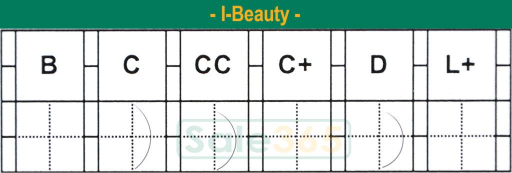 Сравнение изгибов ресниц I-Beauty