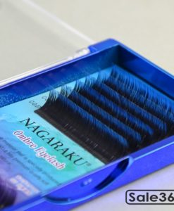 Ресницы Nagaraku / Черные с фиолетовыми и синими кончиками